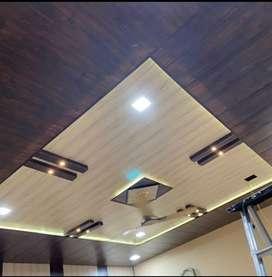 PVC Wall paneling Rs 45 Square feet. 8mm