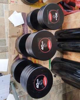 Terima tempahan alat fitness gym dumbell besi