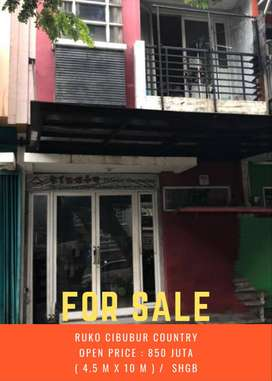 Ruko Murah Lokasi strategis dijual di Cibubur Country