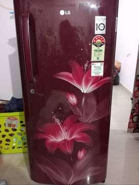 LG refrigerator, 190 liter, one year old, 5 star