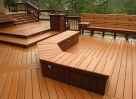 Lantai kayu Merbau , flooring lantai, decking