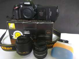 Nikon D3200 Lensa Kit VR2 + Lensa manual Petri Japan 55mm f1:8