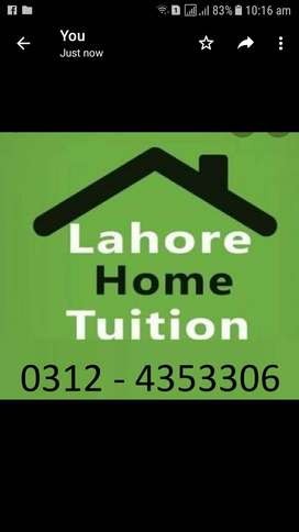 Home Tutions | Bahria Town Lahore | Wapda Town | Valencia Town Lahore