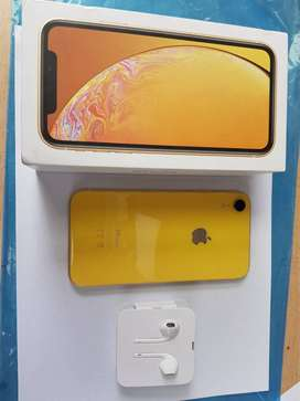 brand new i phone XR available in Yellow colors