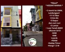 Rumah Kos dekat Kampus Universitas Muhammadiyah Malang