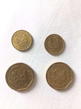 Uang koin kuno singapura