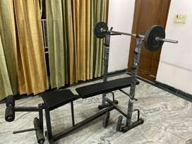 Bench Press with 18KG rod