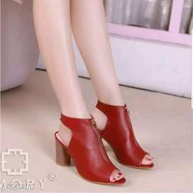 Sandal sepatu wedges high heels wanita terbaru