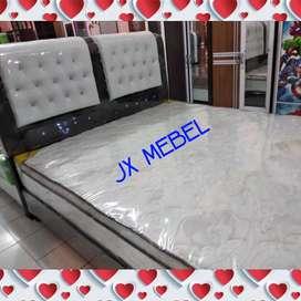 JX MEBEL# SpringBed 2Lapis No.1 + Divan Sandaran Pekanbaru