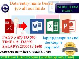 home based part time job available safe and secure income earn