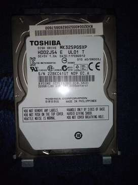 TOSHIBA 320 GB Hard disk for laptop