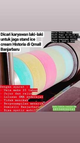 Dibutuhkan laki-laki untuk jaga stand ice cream Historia di Qmall