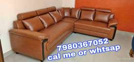Brand new 6 seater leatherette sofa set in brown color from manufactur
