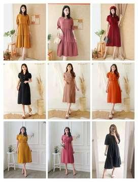 Dresss terbaru dengan motif korea