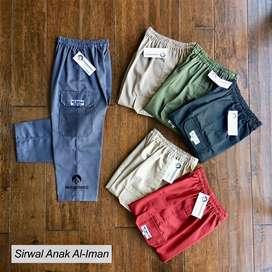 Celana Sirwal Anak Al-Iman Murah | Cingkrang | Size S M L XL