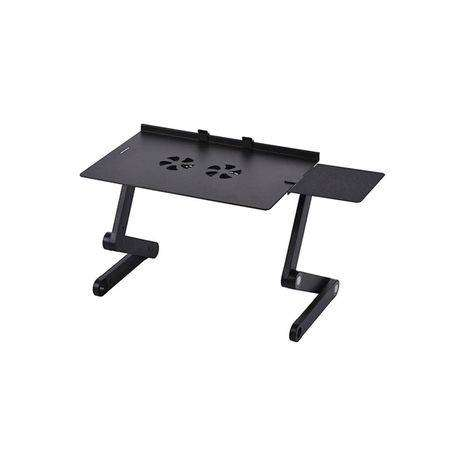 Adjustable Aluminum T8 Laptop Table Stand With Cooling Pad 0