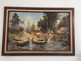 Lukisan Cat Minyak karya Atika Hariyadi