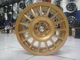 toko velg racing mazda2 ring 16 warna gold free ongkir