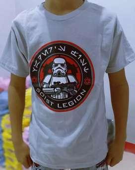 Kaos anak size S sampai XL