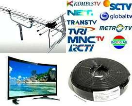 JASA PEMASANGAN BARU ANTENA TV LED