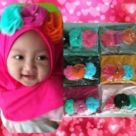 Hijab Anak Bunga Mawar