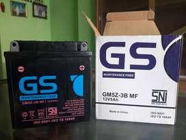 Aki motor GS GM5Z-3B kering  5 Ah Serang Banten