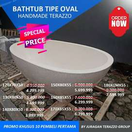 Bathtub terazzo Unik Type Oval Standing Bali P160cm Terazzo