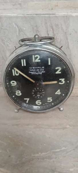 Antique Wehrle Three in one vintage clock Germany