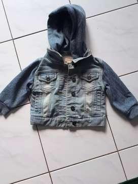 Jaket semi jeans anak usia 1-2 thn