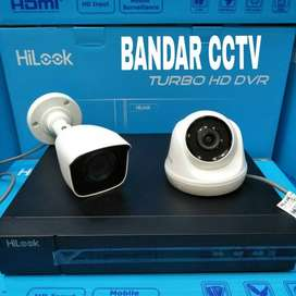 Paket cctv 2 camera audio hilook plus pemasangan