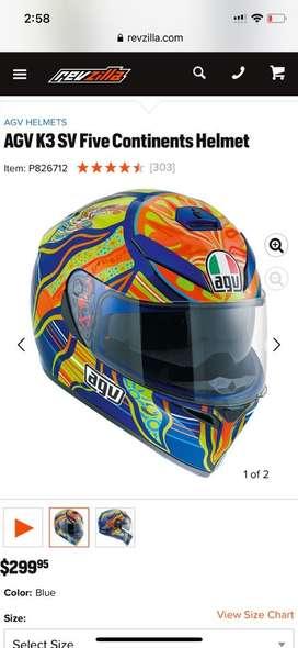 Agv k3 SV Five continents helmet brand new usa import