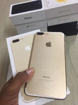 Iphone 7plus 128gb new box pack gold