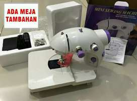 Paket Mesin Jahit Mini Portable + Meja Mesin Jahit Mini Portable