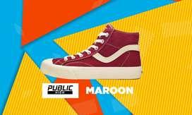Sepatu Ventela Public High Maroon
