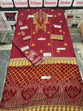 Amazing offer@Ladies unstiched Gul Ahmed Premium Quality Lawn