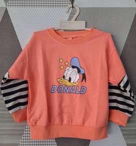 Sweater Switer Anak Donald Bebek