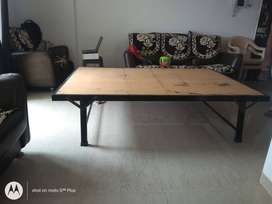 Rigid King Size recently purchased Iron-Plywood Bed without Mattress