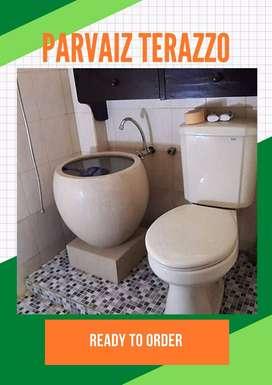 Bak mandi terazzo tipe bakul minimalis