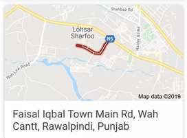 Corner Plot for Sale In wah cantt