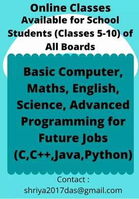 Online Advanced Tuition for Classes 5-10, any board