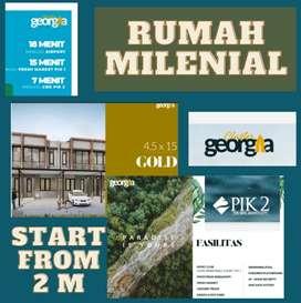 Jual Rumah Milenial TIPE GOLD di PIK 2 Utara Jakarta!