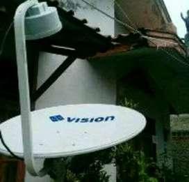 Indovision Mnc Vision tv parabola tv berkualitas jernih tahan hujan