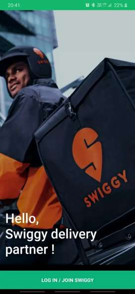 Delivery Executive for Swiggy - Jammu City
