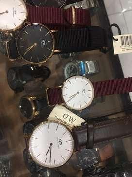 Jam tangan daniel wellington pria wanita ready canvas & kulid