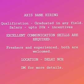 Profiles for digital officer and relationship manager in Axis house