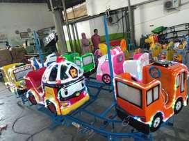 odong odong bergaransi bahan fiber kereta panggung mini coaster