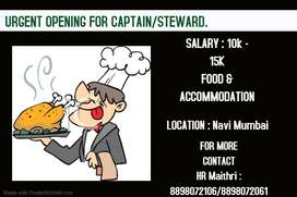 Job available for Captain/ steward