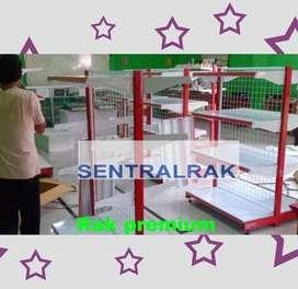 Rak gondola minimarket dua sisi starter sentralrak