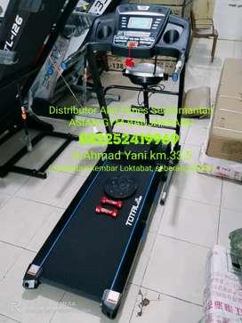 Ready treadmill elektrik 2hp auto incline banyak fungsi dan bonus