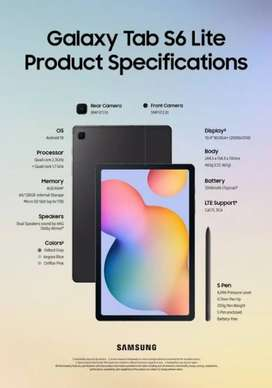 Samsung Galaxy Tab S6 Lite, Ram 4/128Gb, Baru dan Segel, Garansi resmi